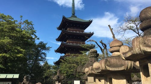 An Old Temple Shrine In Japan Visited By Tourists