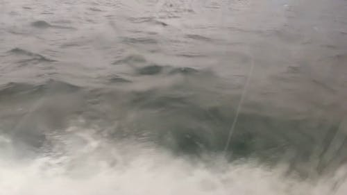 Wake Produce By A Motor Boat In The Sea