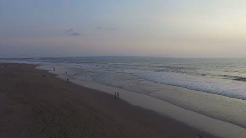 Ujęcia Z Drone Linii Brzegowej Plaży