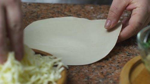 Making A Creamy Cheese Wontons