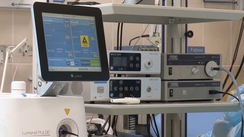 Close-up Footage Of Medical Equipment Used In Hospitals