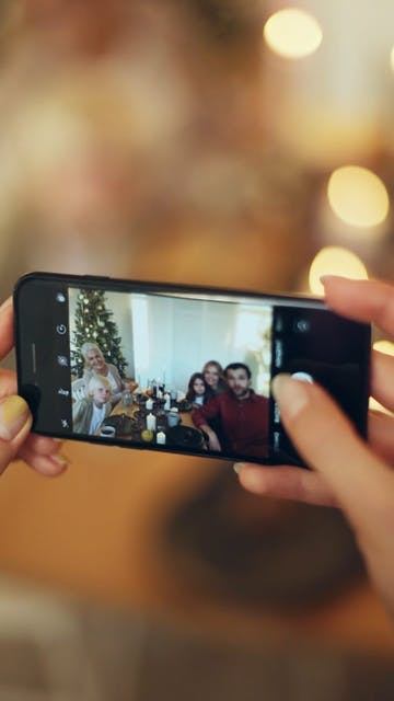 Taking A Photo Using A Smartphone