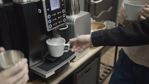 Having Milk From A Multi-drink Dispenser Machine