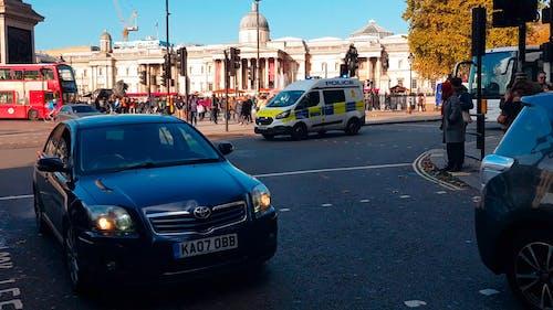 Gündüz Londra Merkezinde Sokakların Yoğun Bir Kavşağı