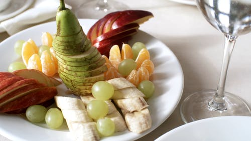 Mixed Fruits Platter Served In A Plate