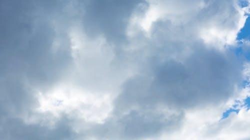 White Clouds Under A Blue Sky