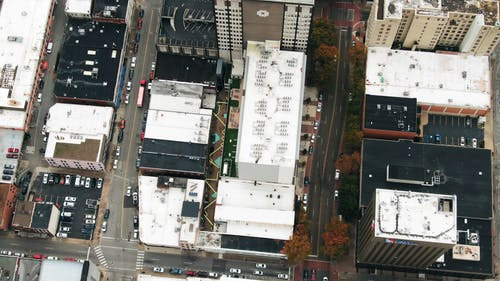 Bir şehir Manzarası Drone Görüntüleri