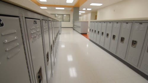 Lockers In A Locker Room As Part Of The School Facility