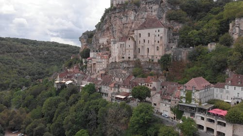 A Clifftop Village In Rocamadour, France