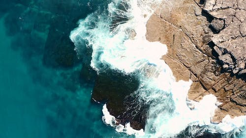 Footage Of Fresh Sea  Waters And Big Waves