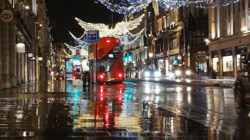 Angel Formed Christmas Lights Lighting Up The Street