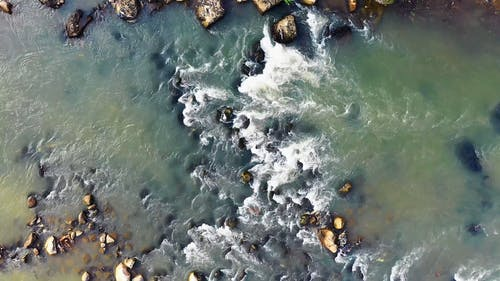 Drone Footage Of A Rocky River