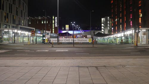 Footage Of A Bus Station Across The Street