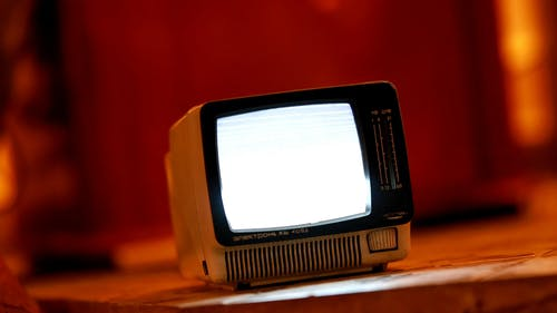 An Old Portable Television