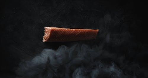 Smoking A Slab Of Fresh Salmon Meat