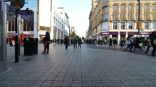 People Shopping At Christmas Season