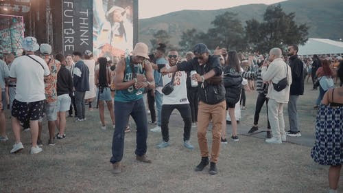 People Dancing In A Music Festival