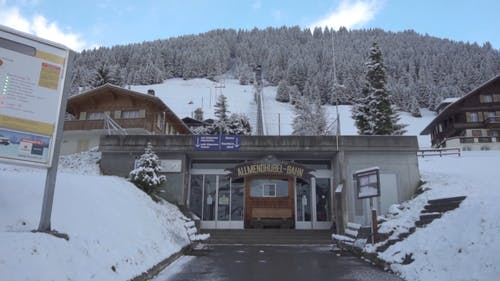 Entrance To A Building Of A Ski Resort