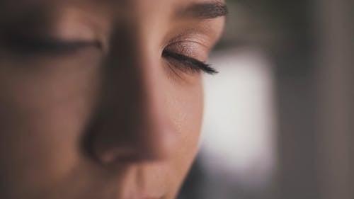 Video In Primo Piano Di Una Donna