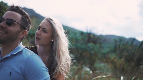 A Couple Outdoors Enjoying Nature