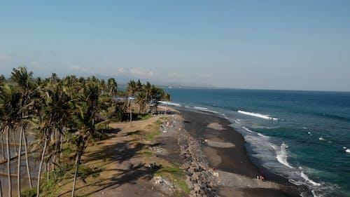 Mascetti Black Sand Beach, Bali island, Indonesia