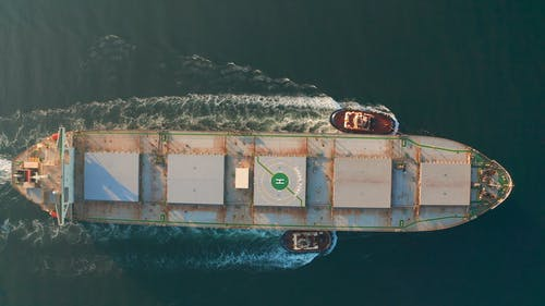Container Ship Top Down