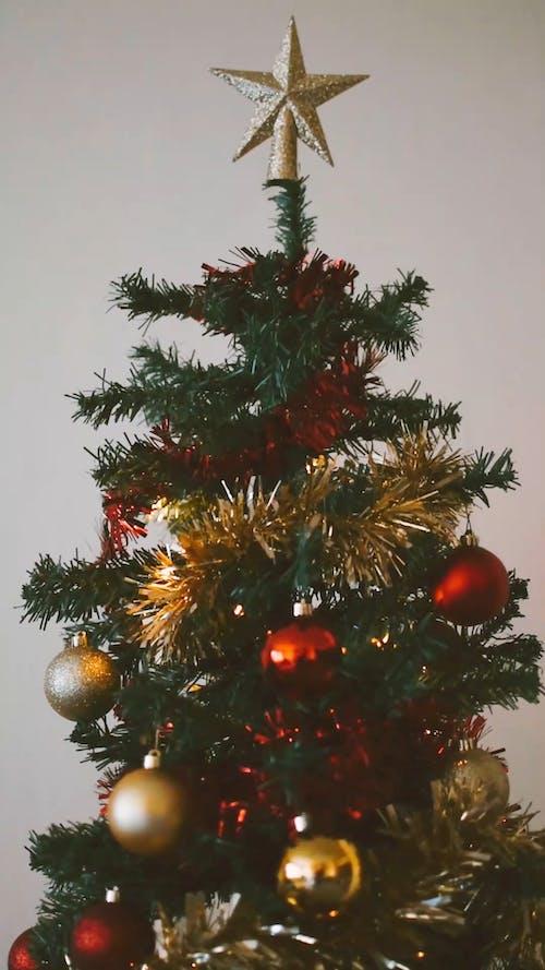 Christmas Ornaments Decors On A Christmas Tree