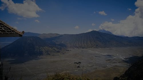 Ash Falls Covering The Wide Area Of Bromo Volcano In Indonesia