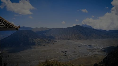 Bromo Mountain From The Sky
