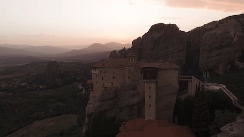 Monasteries Built Over The Mountain Tops In Greece