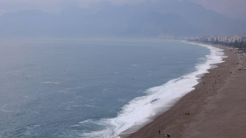 Aerial View Of A Beach Coastline