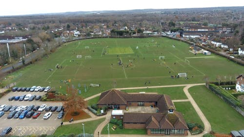 Drone Footage Of A Soccer Field