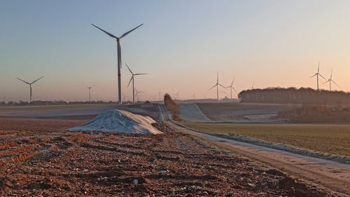 Windmill Plant For Renewable Energy Production