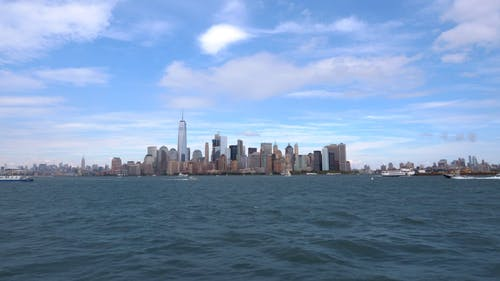 The View Of New York City From The Sea Bay