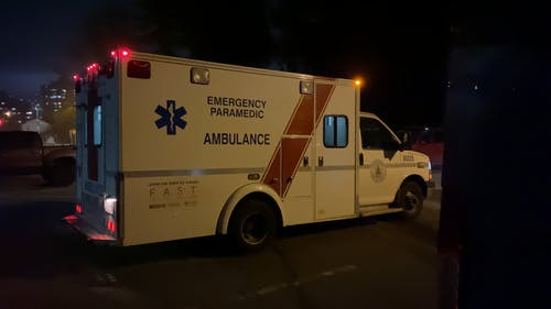 A Customized Vehicle Built As  Ambulance For Emergency Paramedic Use