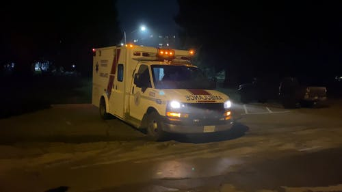 An Ambulance Ready To Respond For Medical Emergency