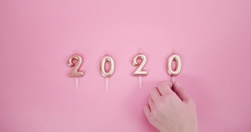 Candles In The Form Of Number Indicating The Coming Years