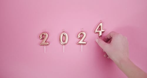 Number Candles Signifying A Year Date