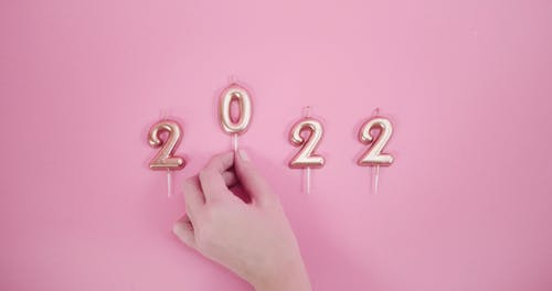 Candle Numbers Indicating A Future YearDate