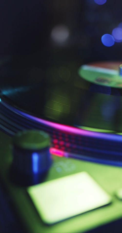 A Turntable Used In Playing Vinyl Records For Sound Mixing