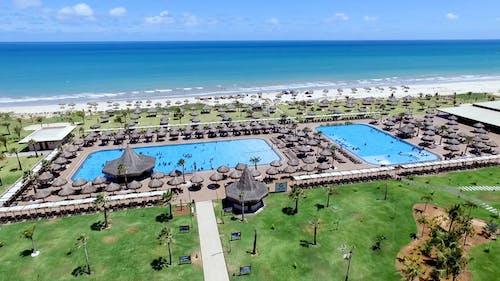 Drone Footage Of A Beautiful Beach Resort