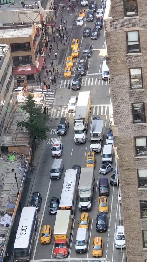 Aerial Footage Of Traffic