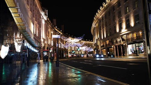Decoration, On London Street During Christmas Season