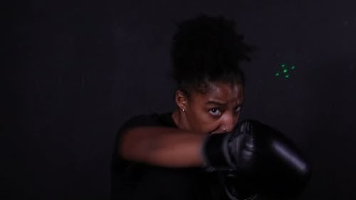 A Person Showing Her Boxing Skills