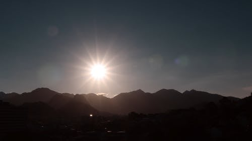 Time Lapse Footage Of The Sun Going Down