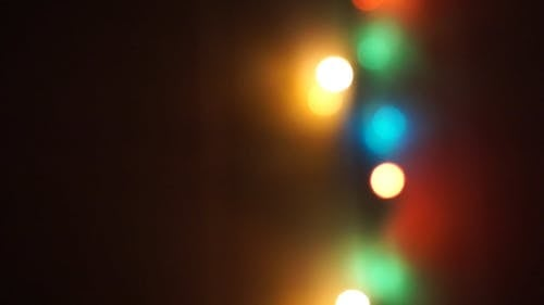 An Out Of Focus Footage Of A Christmas Lights