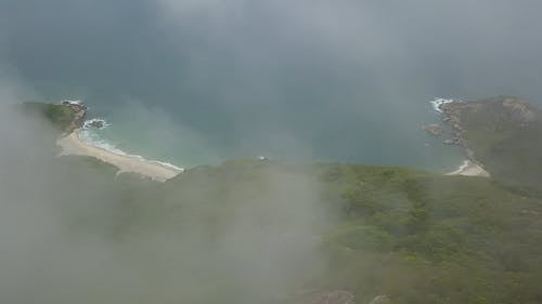 Mountain  And Sea In Drone View
