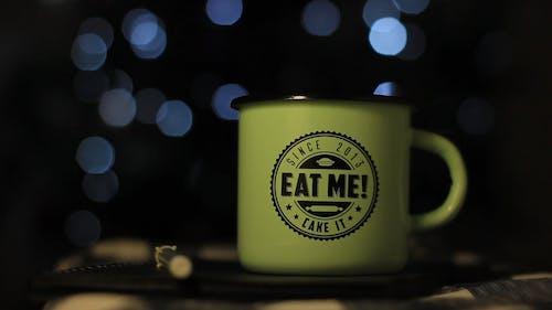 Close-Up Video Of Green Mug