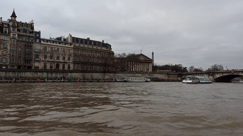 Footage Of Buildings Taken From A Moving Watercraft