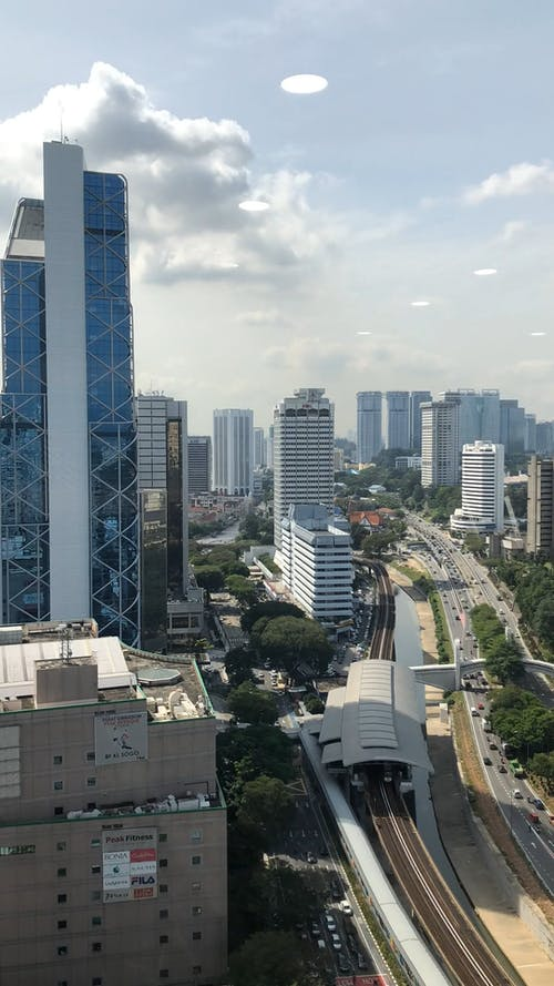 Aerial Footage Of The City Of Malaysia